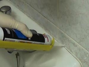 Герметизация ванны своими руками
